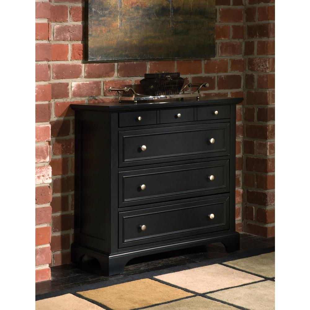 Home styles bedford 4 drawer black chest 5531 41 the - Black chest of drawers for bedroom ...
