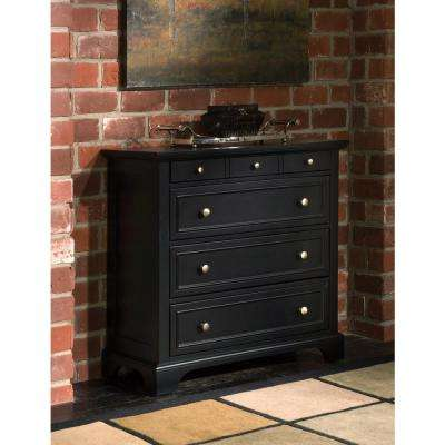 Bedford 4-Drawer Black Chest