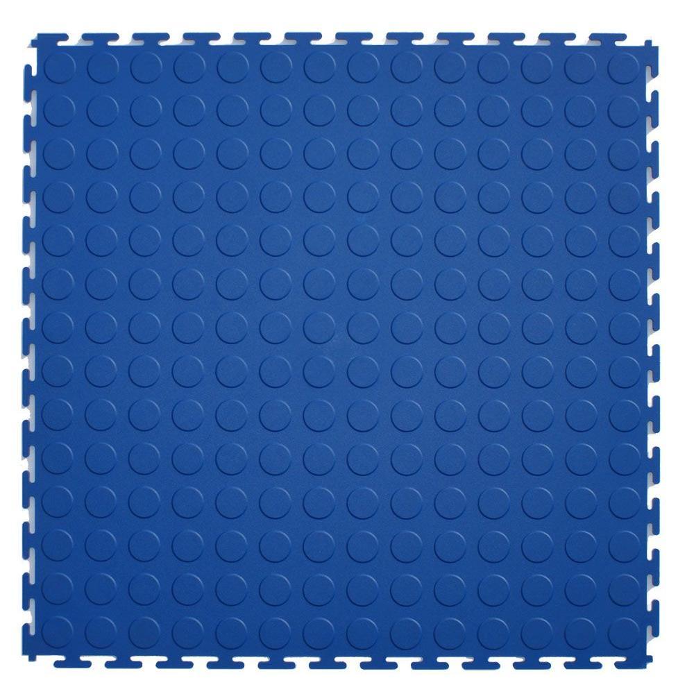 IT-tile Coin Dark Blue 20-1/2 in. x 20-1/2 in. PVC Interlocking Multi-Purpose Flooring Tiles (23.25 sq. ft./case)