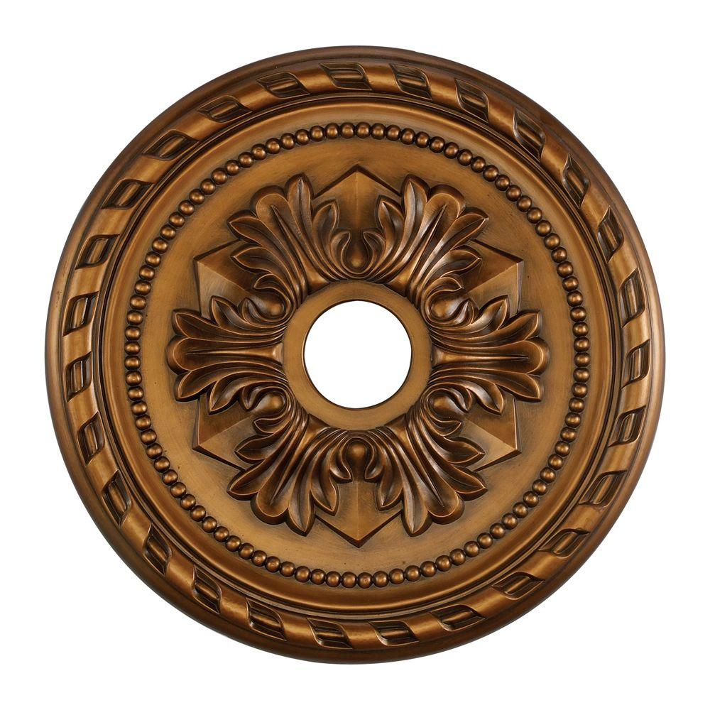 Titan Lighting Corinthian 22 in. Antique Bronze Ceiling Medallion