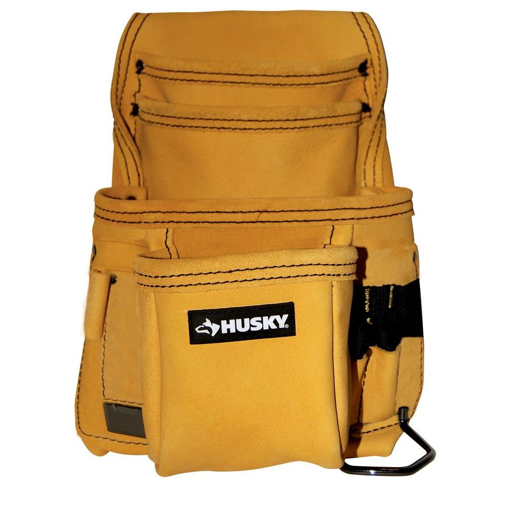 Husky 10-Pocket Top Grain Leather Carpenter