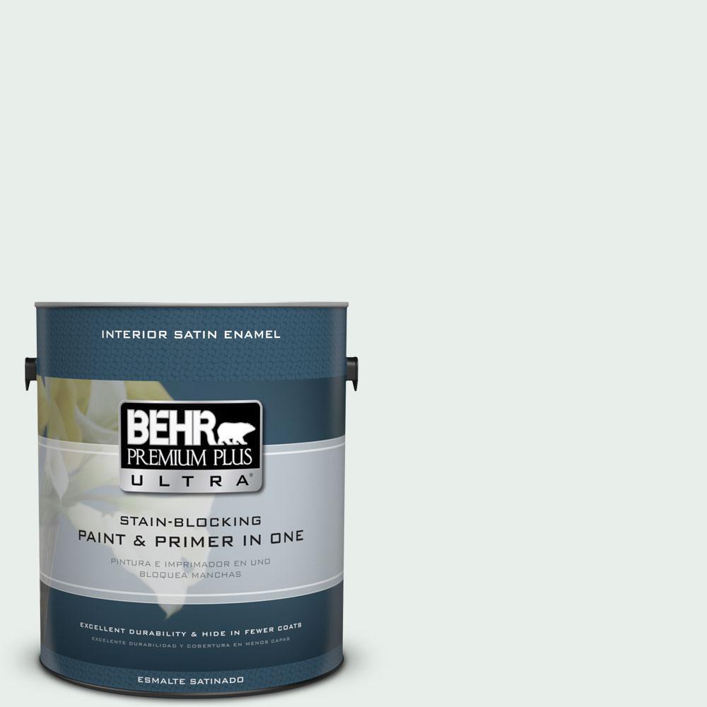 BEHR Premium Plus Ultra 1-gal. #460C-1 Aegean Mist Satin Enamel Interior Paint