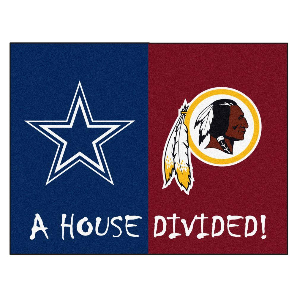 FANMATS NFL Cowboys   Redskins Navy House Divided 3 ft. x 4 ft. Area ... 4cc565c17