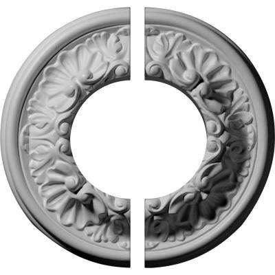 7-1/2 in. O.D. x 3-1/2 in. I.D. x 1-1/8 in. P Odessa Ceiling Medallion (2-Piece)