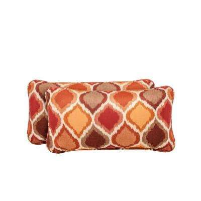 Vineyard Empire Chili Outdoor Lumbar Pillow (2-Pack)