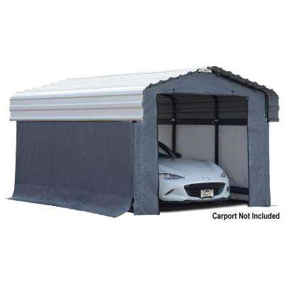 10 ft. W x 15 ft. D Enclosure Kit for Carport with Convenient Drive-Through Access and Heat-Sealed Seams