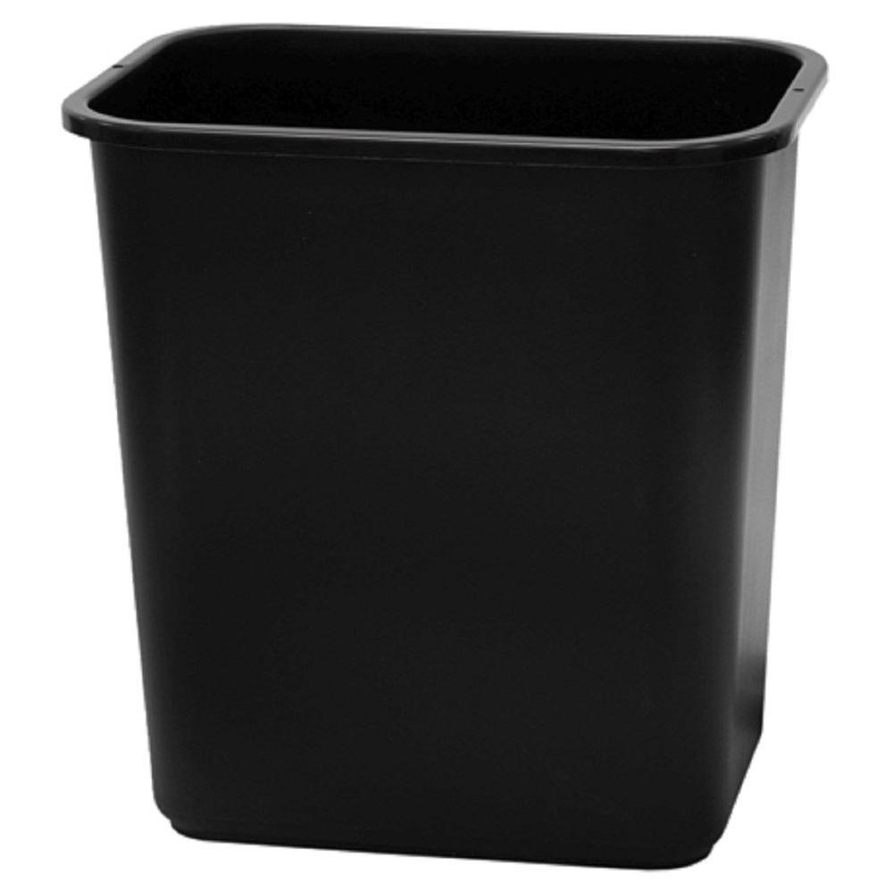 28 qt. Black Office Wastebasket