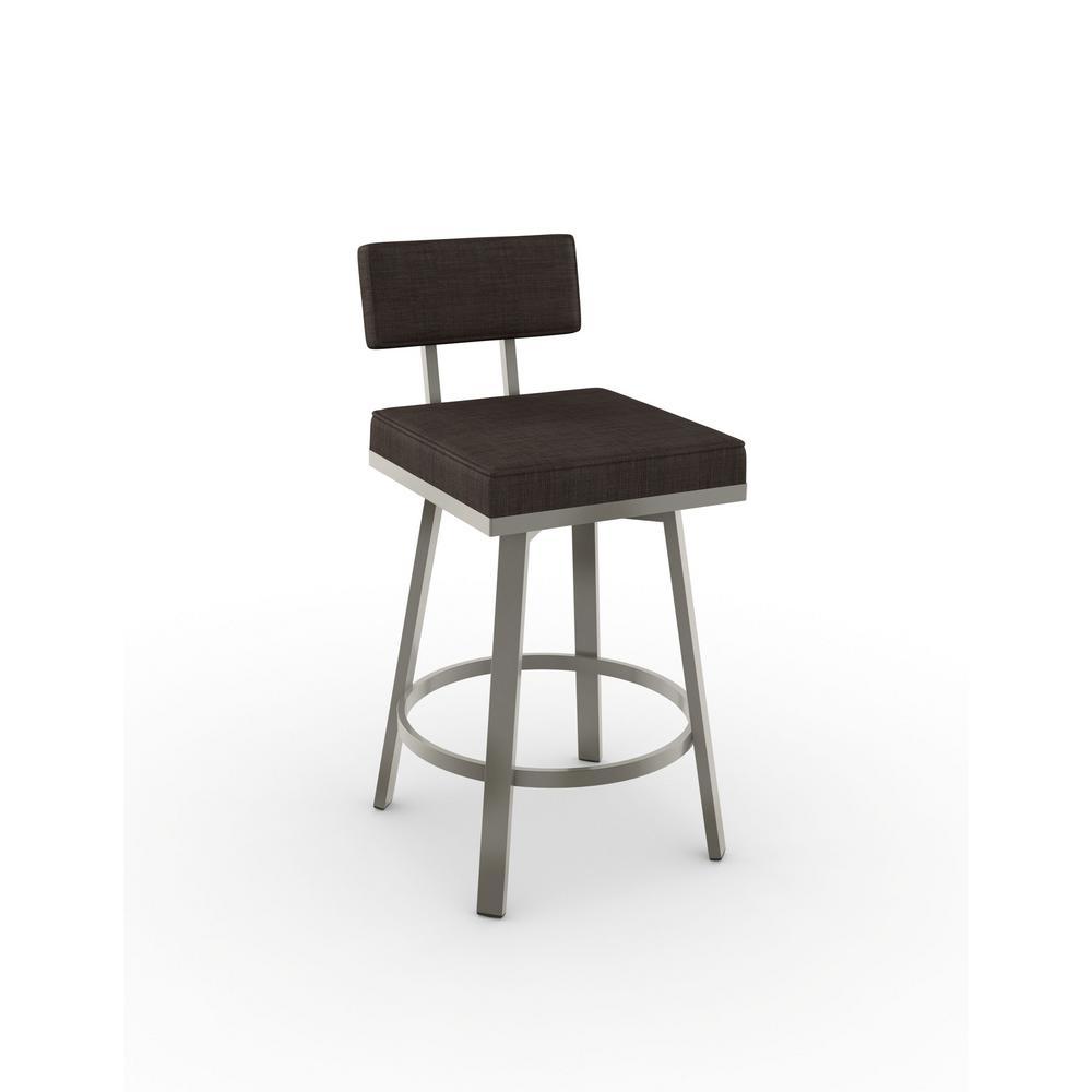 Superb Amisco Browser 30 In Cream Faux Leather Dark Brown Metal Uwap Interior Chair Design Uwaporg