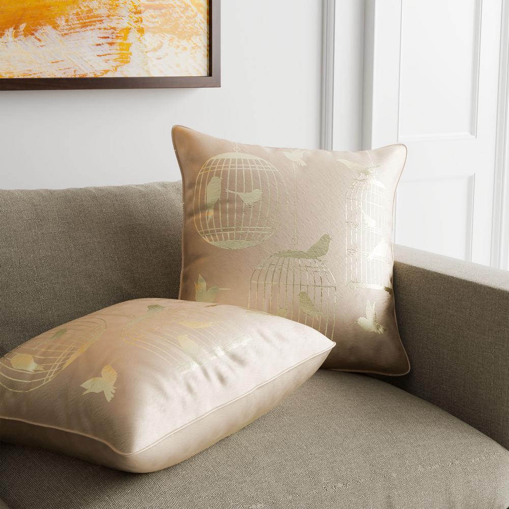 Birds Ivory Decorative Pillow (Set of 2)