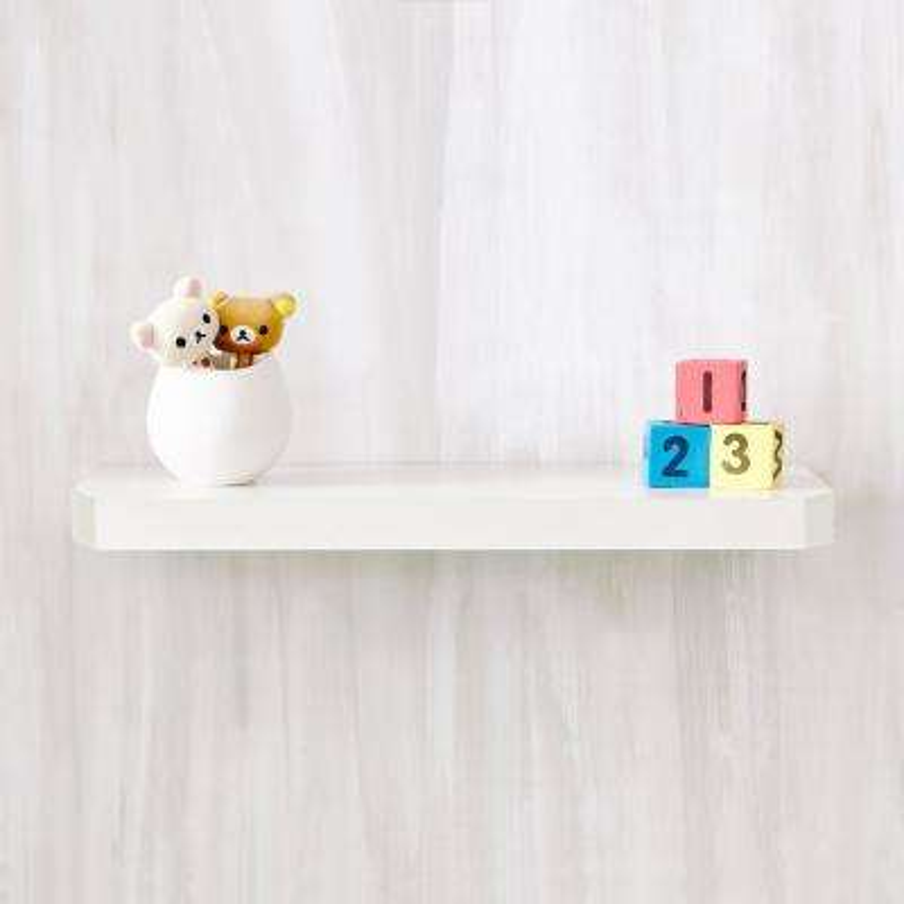 Uniq 23.6 in. W x 1.6 in. D Pearl White zBoard  Floating Wall Shelf and Decorative Shelf