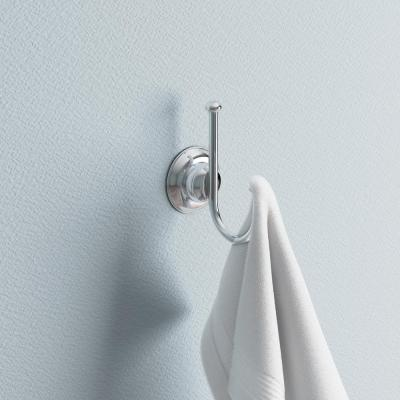 Porter Double Towel Hook in Polished Chrome