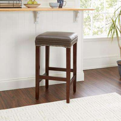 Dodie 29 in. Brown Bar Stool