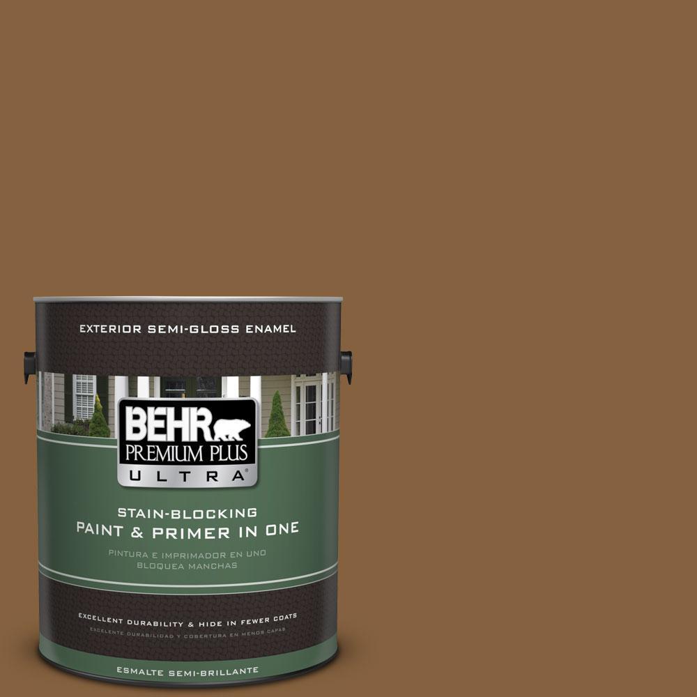 BEHR Premium Plus Ultra 1-gal. #PPU4-18 Spice Bazaar Semi-Gloss Enamel Exterior Paint