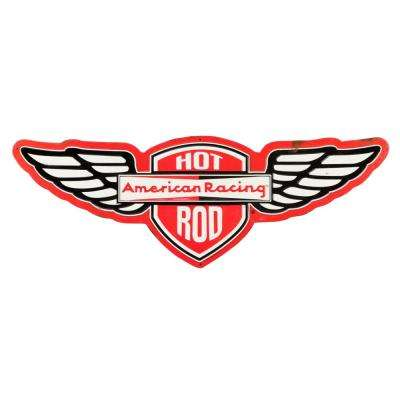 Hot Rod Rustic Embossed Tin Decorative Sign