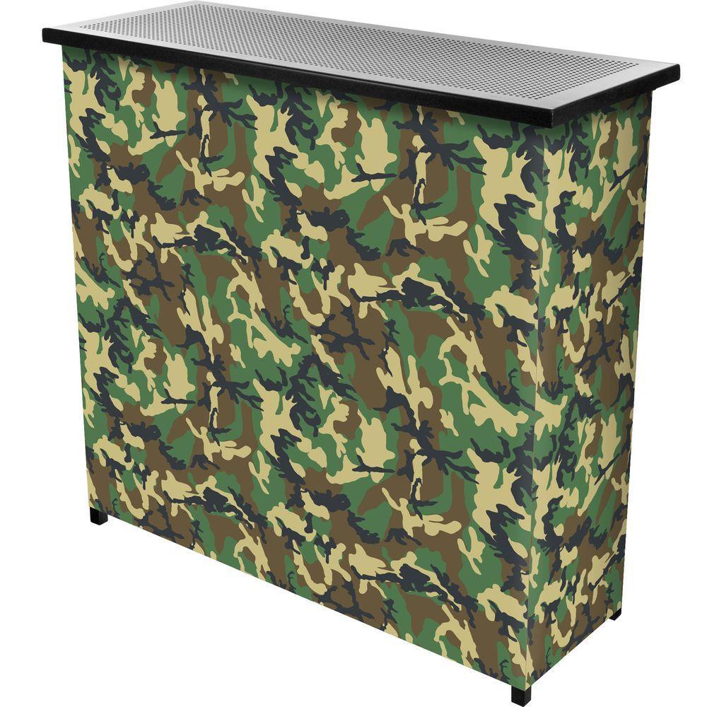Hunt Camo 2-Shelf Green Bar with Case