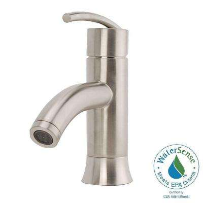 Vincennes Single Hole 1-Handle Low-Arc Bathroom Faucet in Brushed Nickel