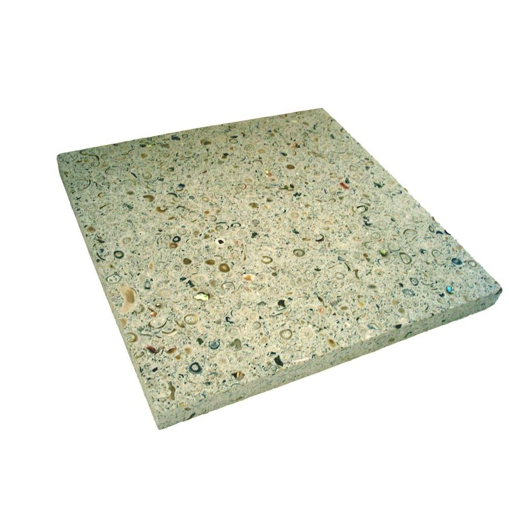 Earth Surfaces of America 18 in. x 18 in. Paver Bone with Shells and Abalone (99 sq. ft. per pallet)