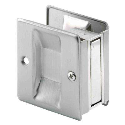 Satin-Nickel Pocket Door Pull Handle