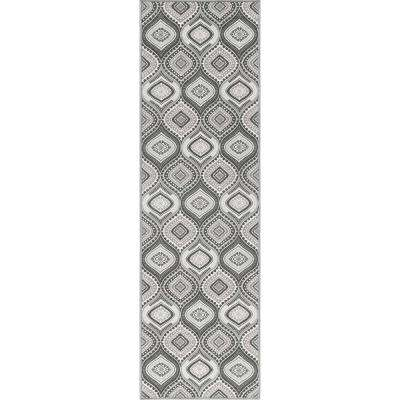 Majesty Charcoal 2 ft. 3 in. x 7 ft. 6 in. Runner Rug
