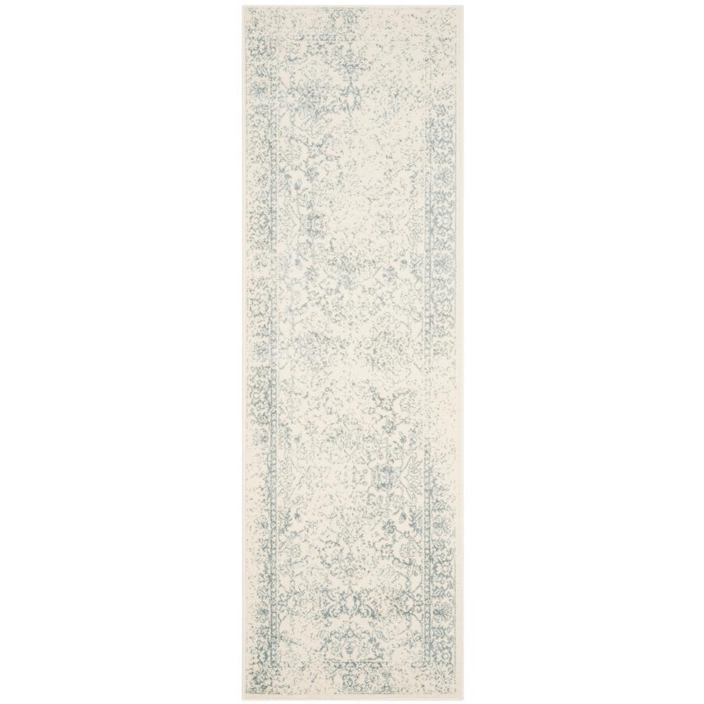 Adirondack Ivory/Slate 3 ft. x 14 ft. Runner Rug
