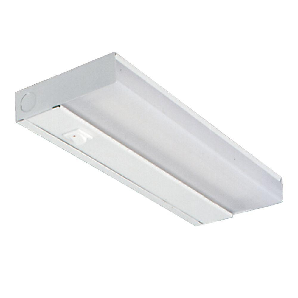 12 in. White Fluorescent Slim Line Under Cabinet Light Fixture ...