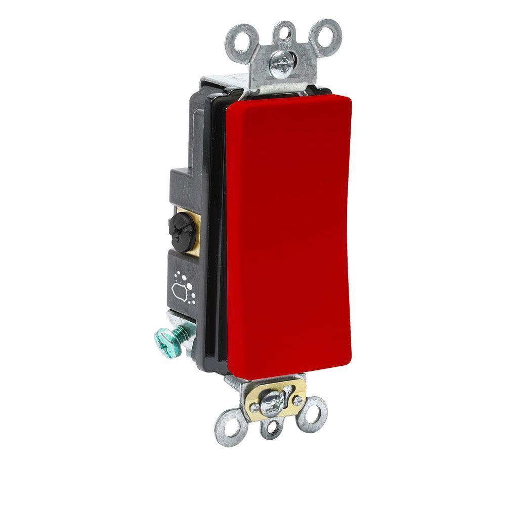 Leviton Decora Plus 20 Amp 120 Volt 277 Antimicrobial Treated 3 Wiring Way Rocker Switch