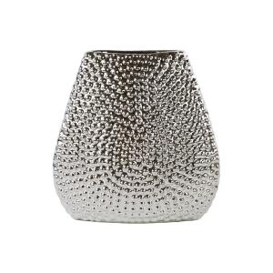 Urban Trends Collection Silver Chrome Stoneware Decorative Vase by Urban Trends Collection