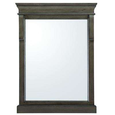 Naples 24 in. x 32 in. Wall Mirror in Distressed Grey
