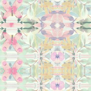 RoomMates 28.18 sq. ft. Multi-Colored Synchronized Floral Peel and Stick Wallpaper by RoomMates