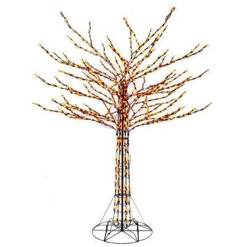 8 ft. Orange LED Twig Tree