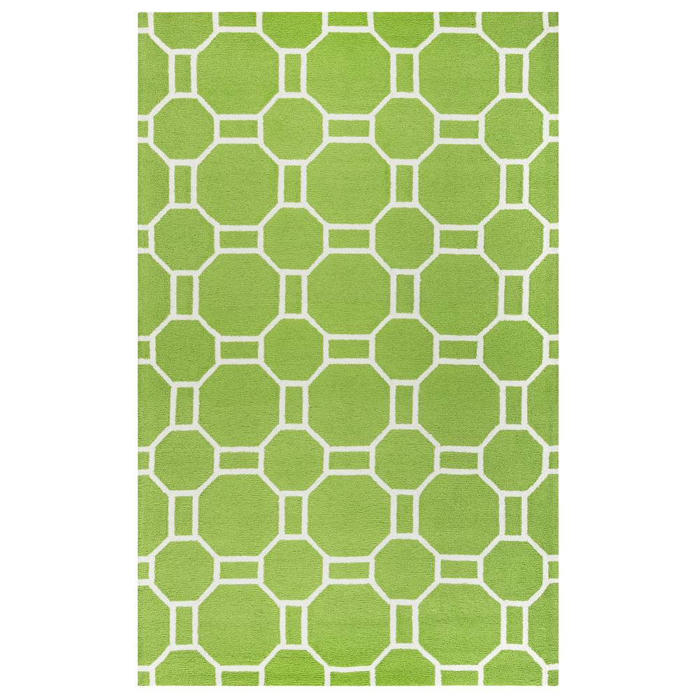 Lime Green Outdoor Area Rug: Rizzy Home Azzura Hill Lime Green Geometric 9 Ft. X 12 Ft