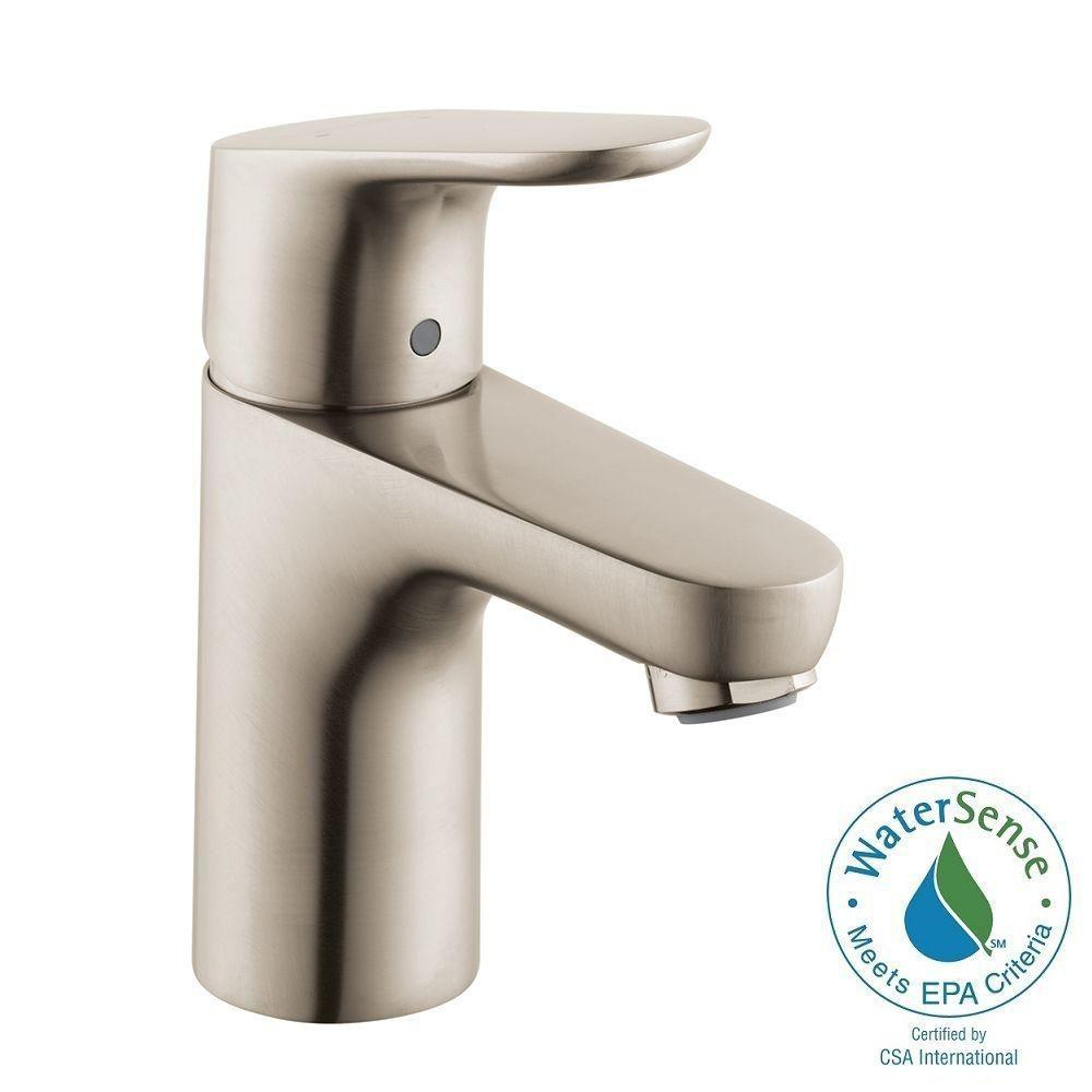 Hansgrohe Focus 100 Single Hole 1-Handle Bathroom Faucet in Brushed ...