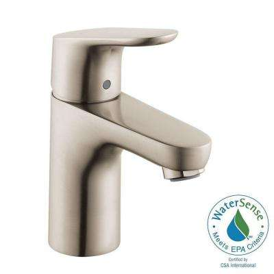 Focus 100 Single Hole 1-Handle Bathroom Faucet in Brushed Nickel
