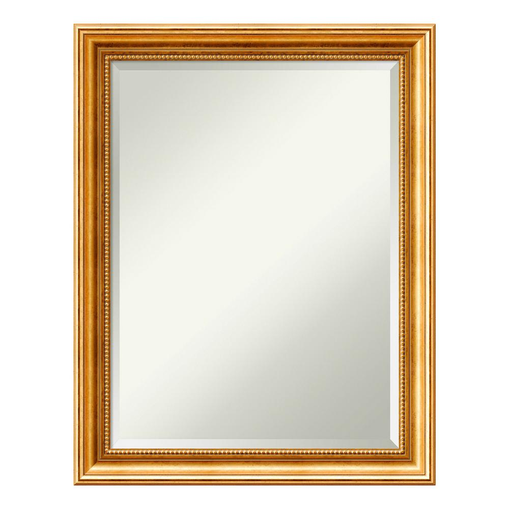 Amanti Art Townhouse Gold Wood 22 in. x 28 in. Traditional Bathroom Vanity Mirror was $179.0 now $104.89 (41.0% off)