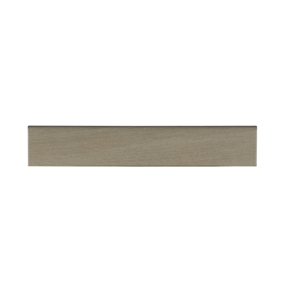Cotto Sand Bullnose 3 In X 18 Glazed Porcelain Wall