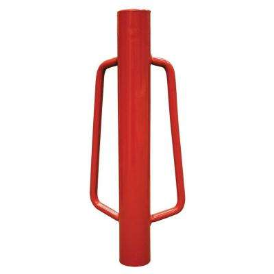 3 in. x 9 in. x 24 in. Metal Fence Post Driver