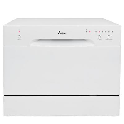 18 in. White Electronic Portable 120-volt Dishwasher with 6-Cycles
