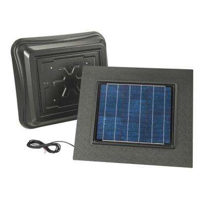 28 Watt Solar-Powered Weathered Wood-Look Remote Mount Attic Vent