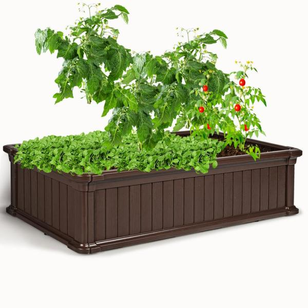 Costway 48-in x 24-in Raised Garden Bed Rectangle Plant Box