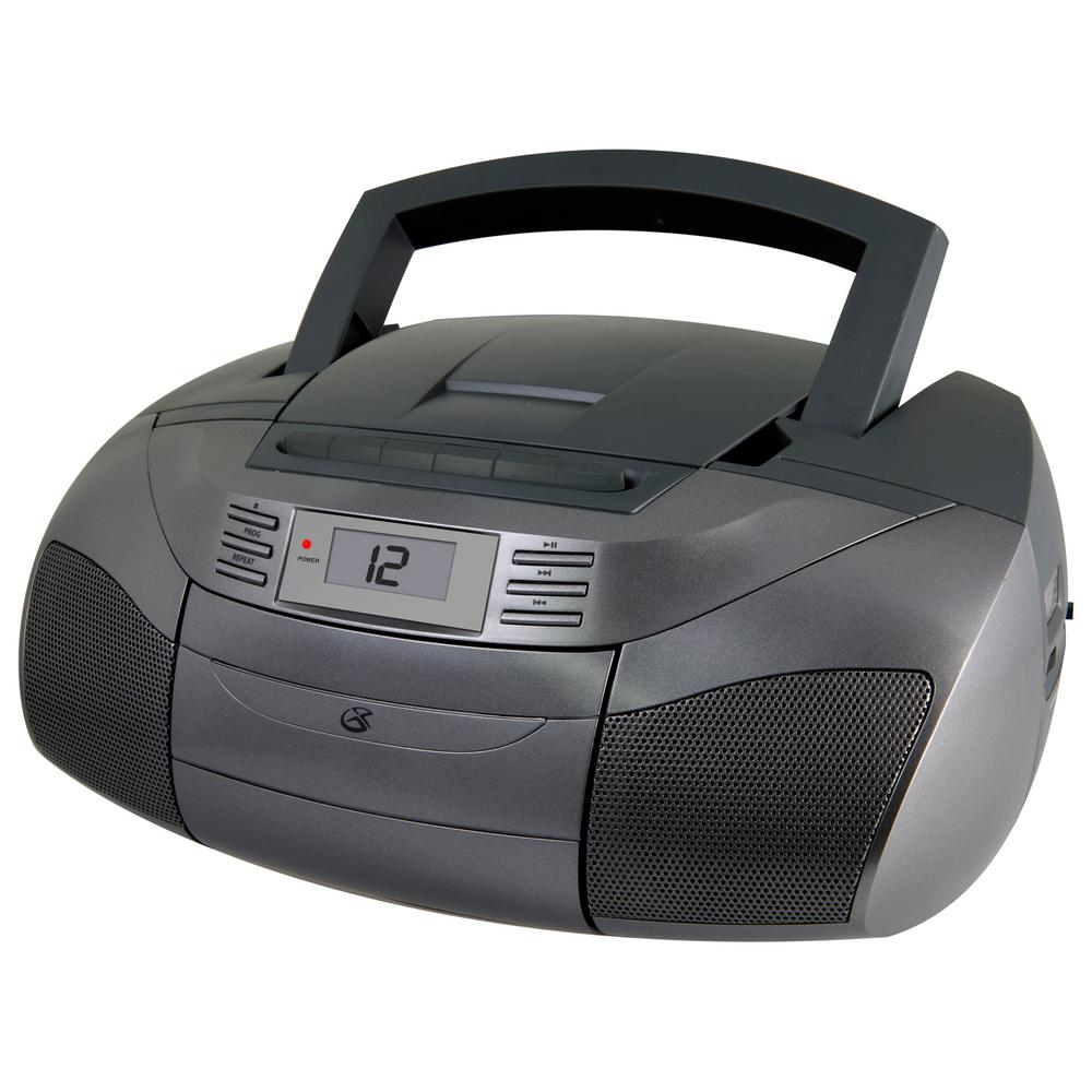 gpx stereo boom box with cd am fm cassette bca206s the. Black Bedroom Furniture Sets. Home Design Ideas