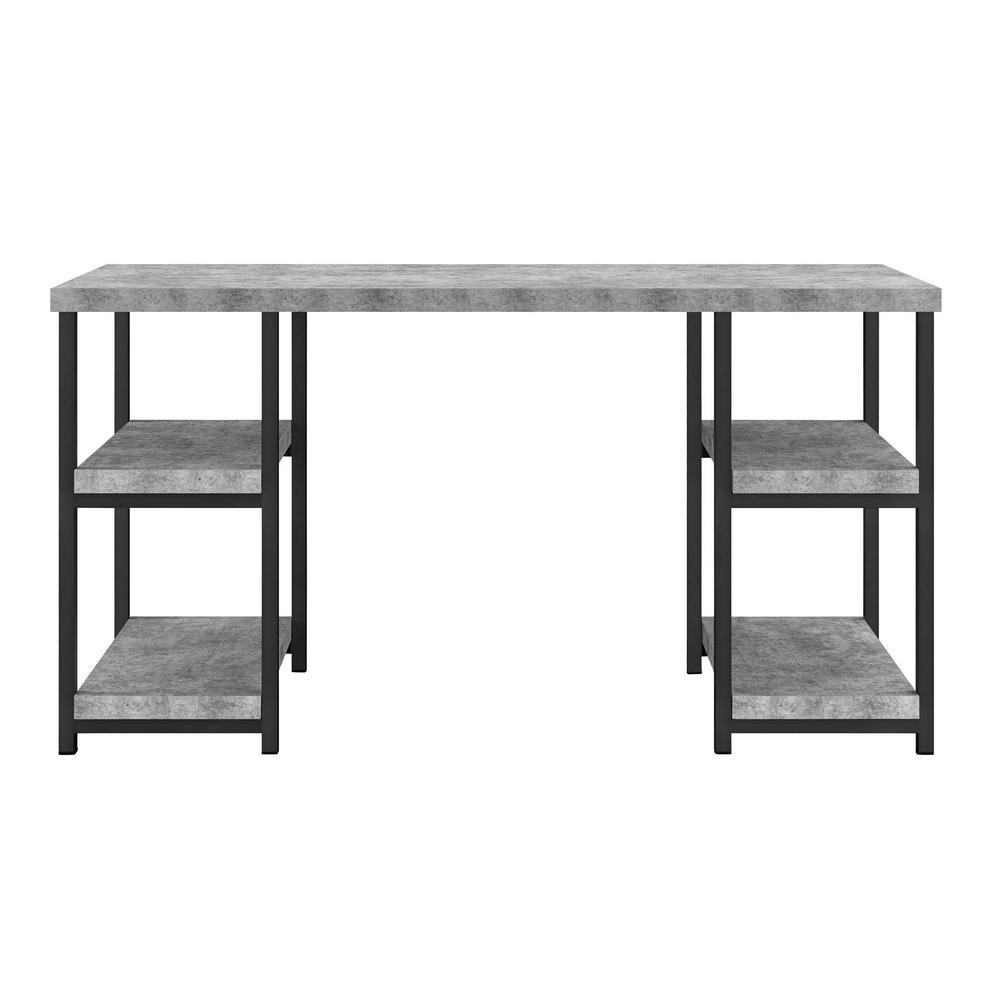 Ameriwood Yellowstone Concrete Gray Desk HD78747