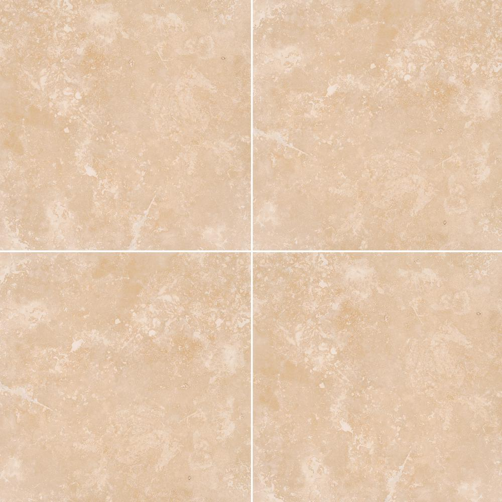 Msi Diego 18 In X 18 In Honed Travertine Wall And Floor Tile 150
