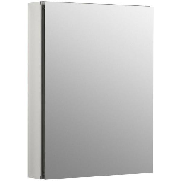 Home Decorators Collection 20 1 8 In W X 26 In H Fog Free Framed Recessed Or Surface Mount Mirror Bathroom Medicine Cabinet In Brushed Nickel 45418 The Home Depot