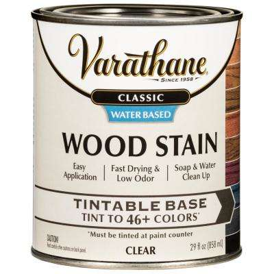 1 qt. Classic Clear Tint Base Water-Based Interior Wood Stain