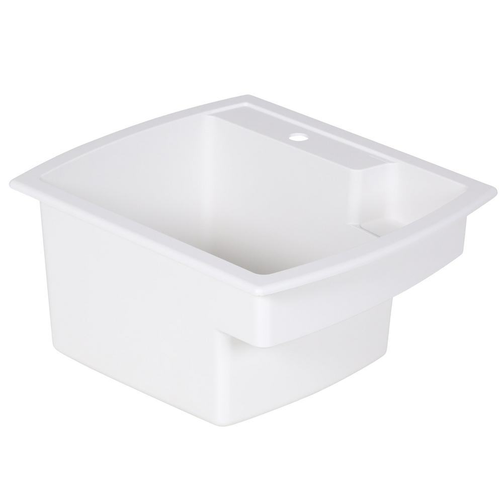 Vikrell Self Rimming Utility Sink In White