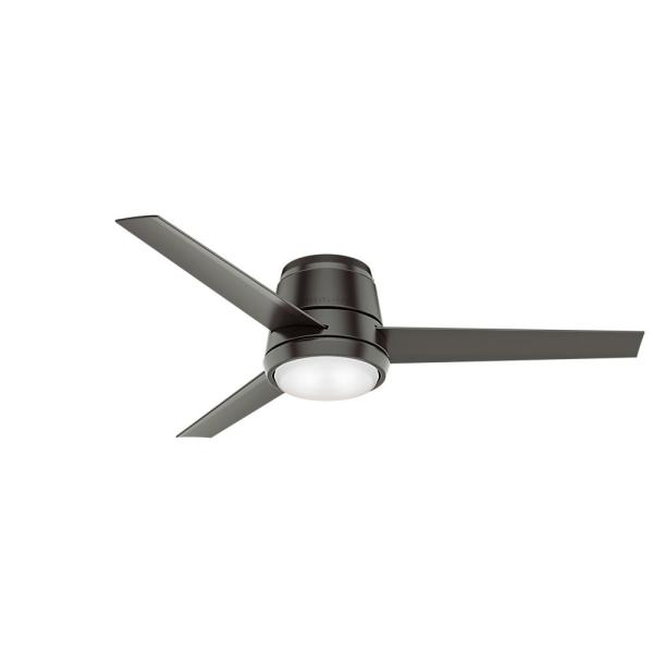 Commodus 54 in. Integrated LED Low Profile Indoor Noble Bronze Ceiling Fan with Light Kit and Remote Control