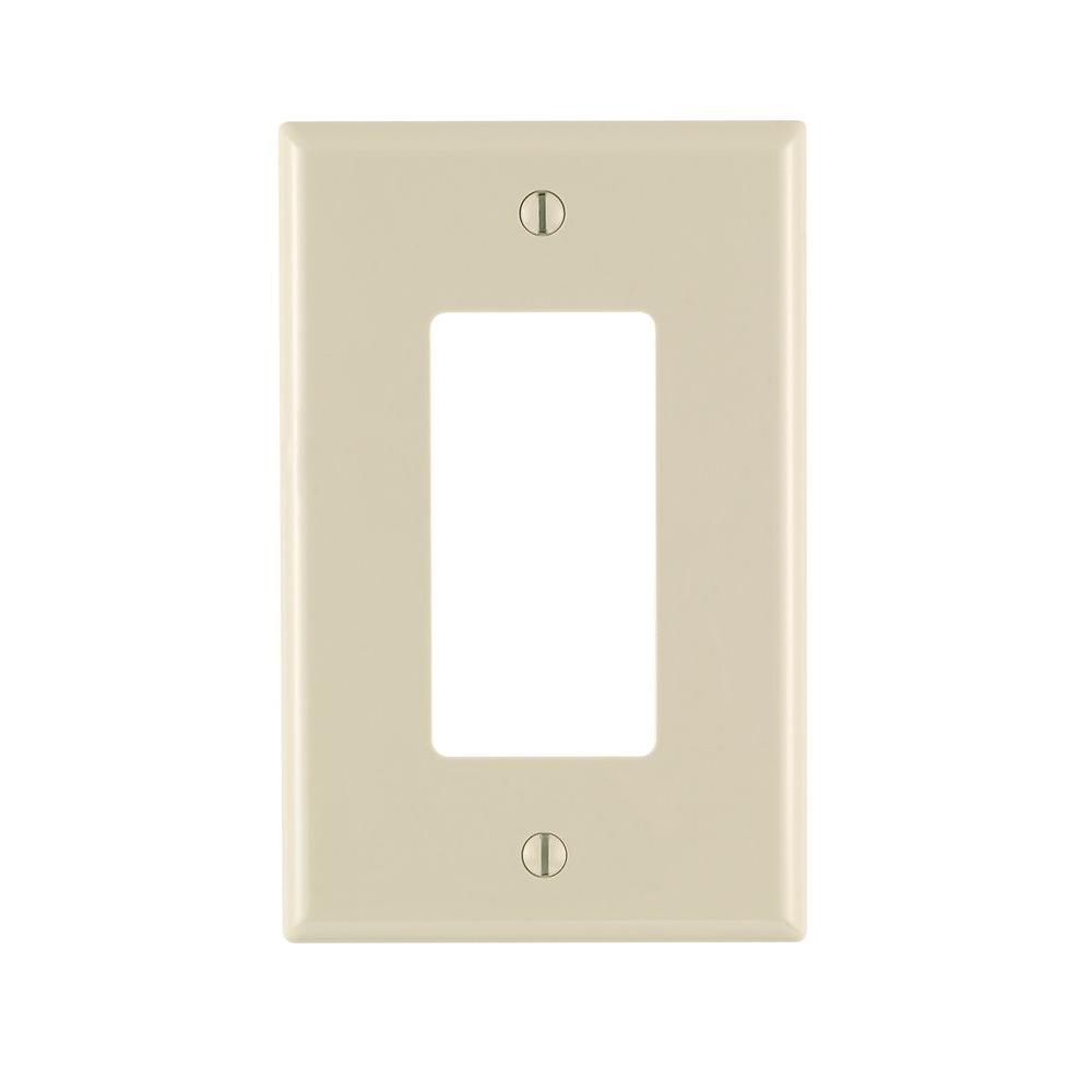 Leviton Decora 1-Gang Midway Nylon Wall Plate, Light Almond