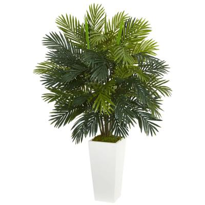 Areca Palm Artificial Plant in White Tower Planter