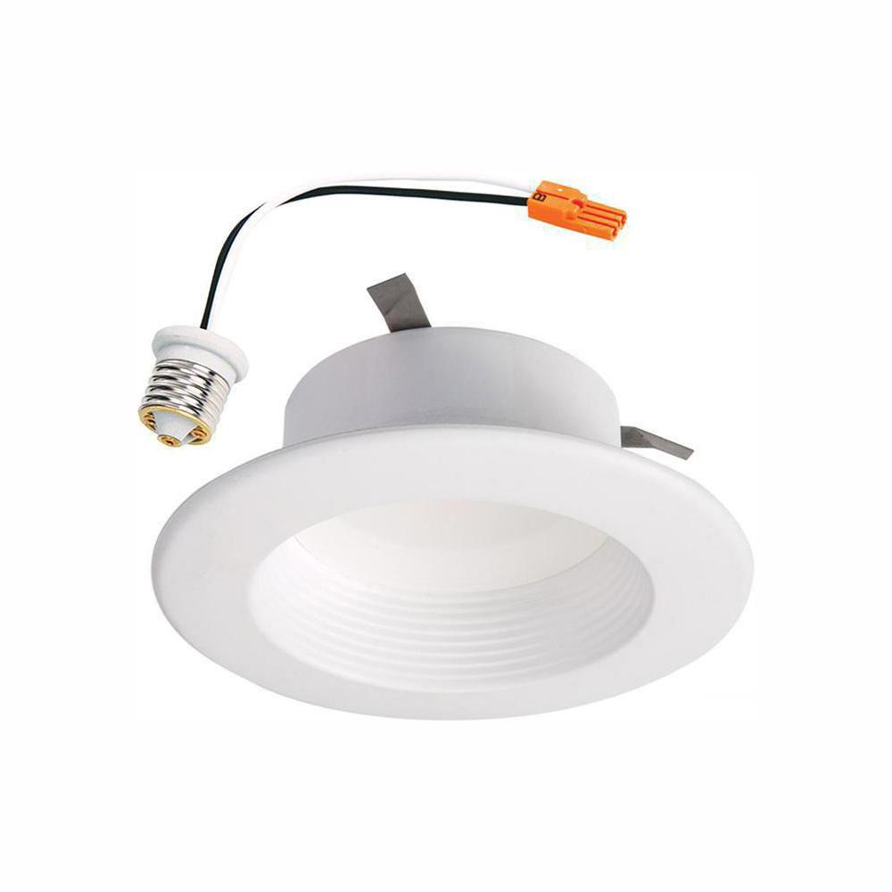 Halo Rl 4 In White Integrated Led Recessed Ceiling Light Retrofit Trim With Selectable Cct 2700k 5000k