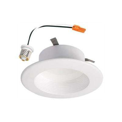 RL 4 in. White Integrated LED Recessed Ceiling Light Retrofit Trim with Selectable CCT (2700K-5000K)